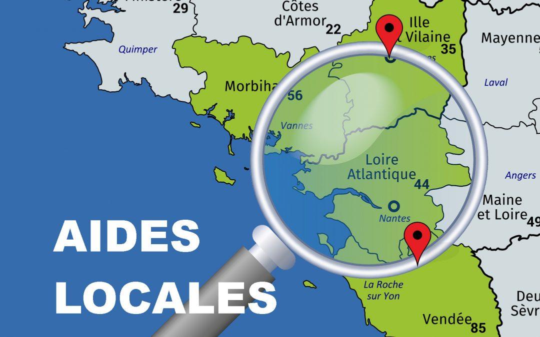 Les aides locales pour le financement de pompes à chaleur en Loire-Atlantique (44), Maine-et-Loire (49), Vendée (85), Morbihan (56), Ille-et-Vilaine (35)