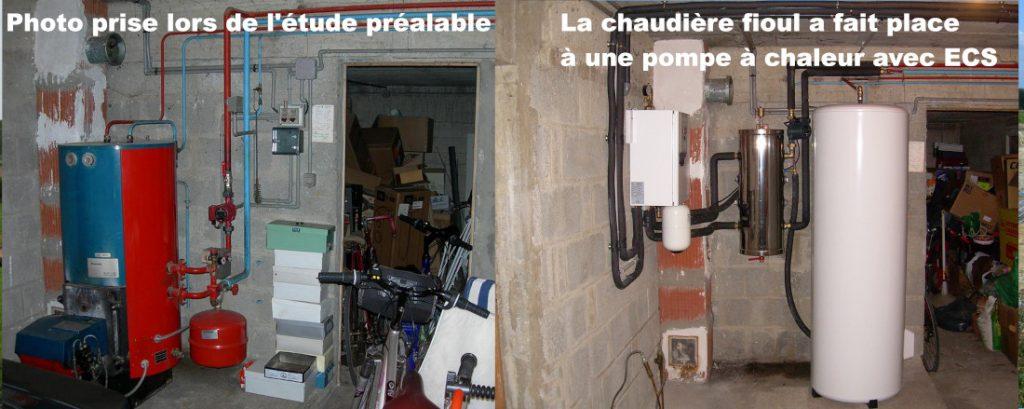 L'étude sur place permet aussi de déterminer où sera installé la pompe à chaleur.